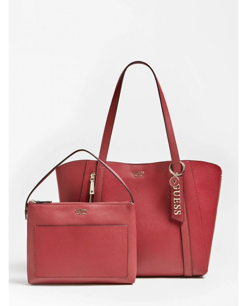 Guess Tracolle   Naya trap tote Donna Rosso Fashion