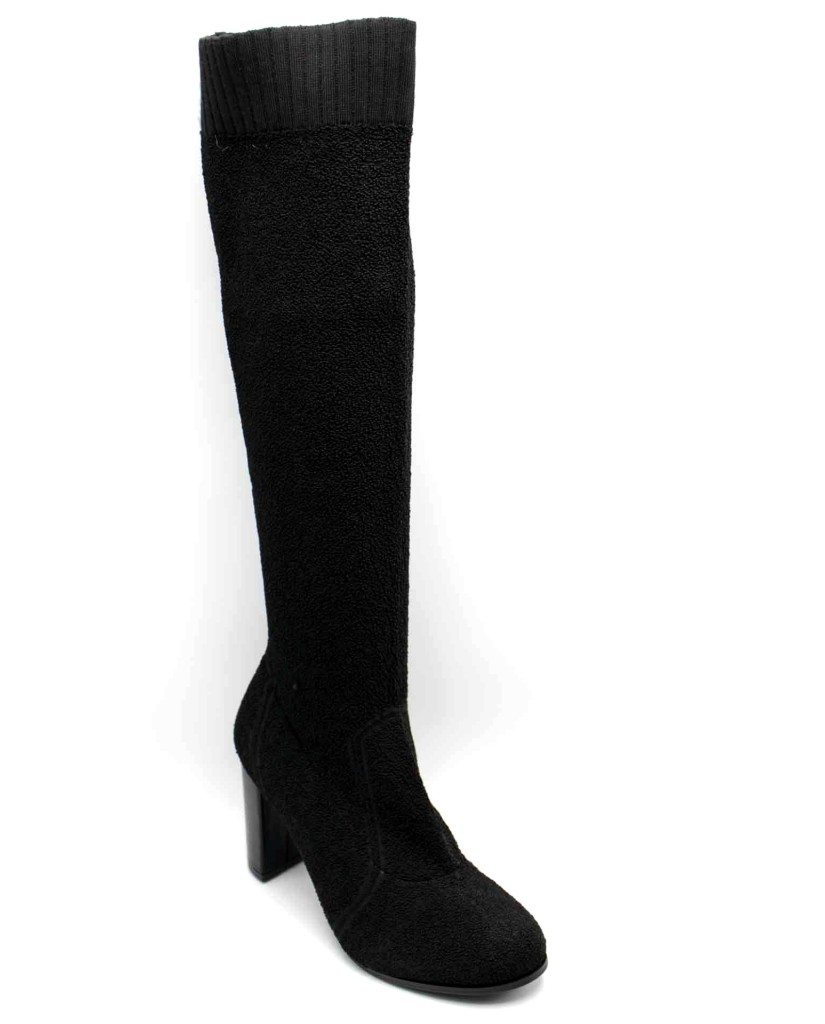 Cafe' noir Stivali F.gomma Stivale in tessuto elasticizzato Donna Nero Fashion