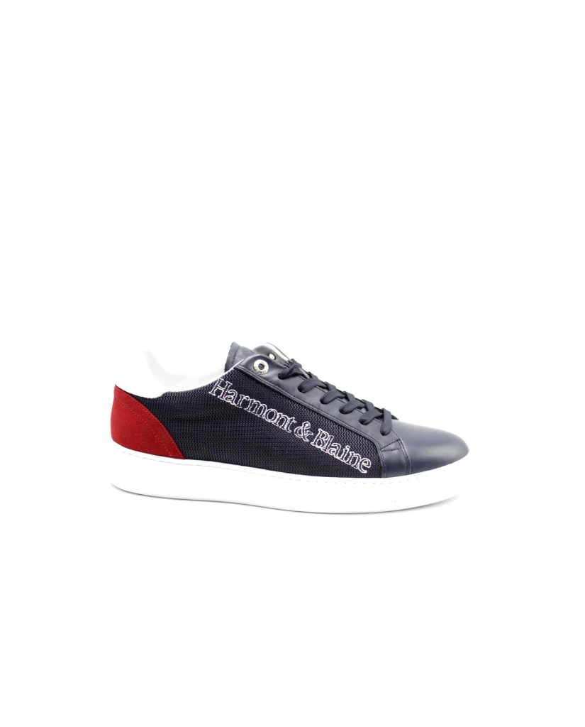 Harmont-blaine Sneakers F.gomma Scarpa uomo calf - tex fabric blu - Uomo Blu Fashion