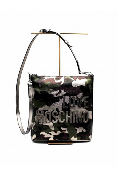 Moschino Borse   Borsa digital print pvc nero Donna Militare Fashion
