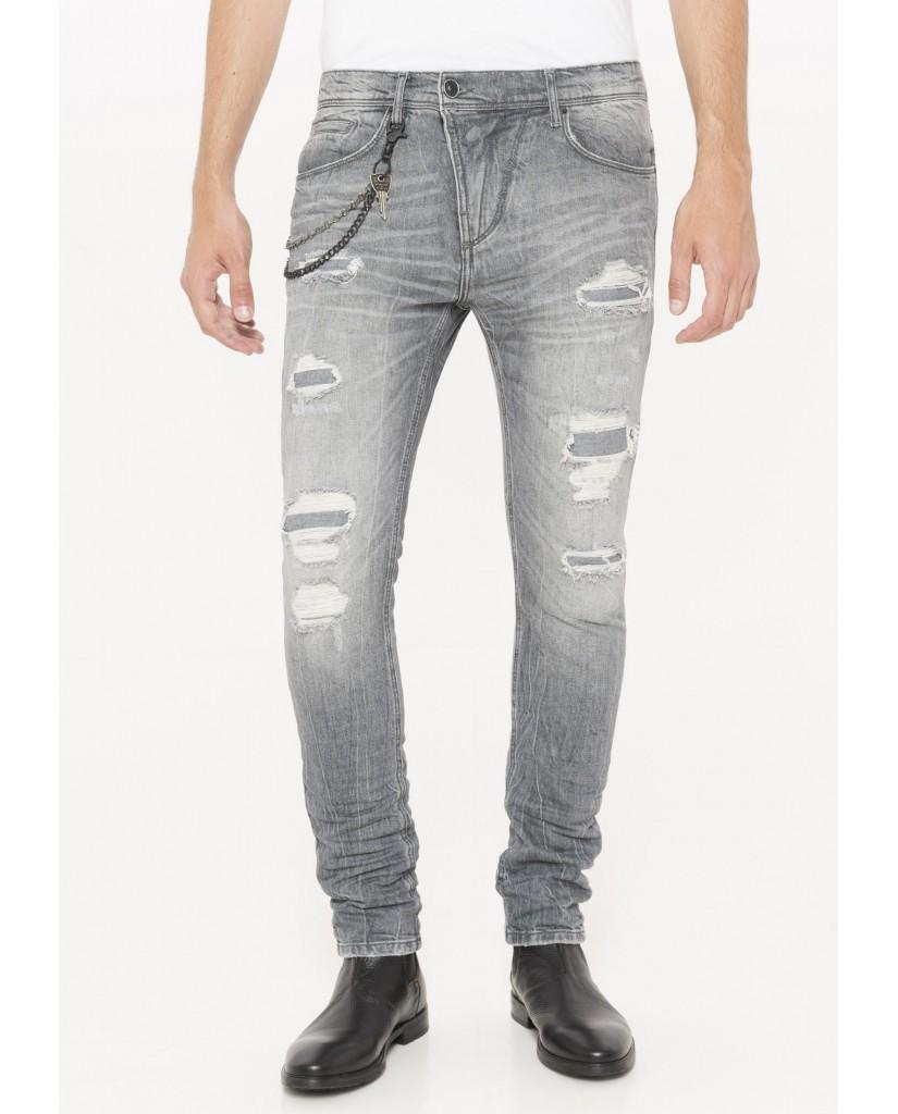 Antony morato Jeans   Jeans carrot stretch tyler Uomo Grigio
