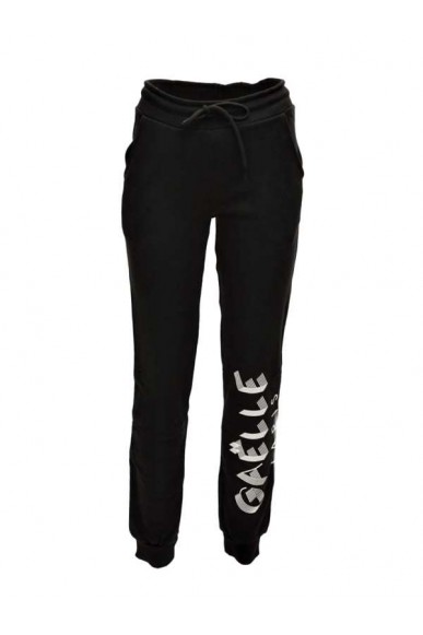 Gaelle paris Pantaloni   Pantalone felpa co+stampe Donna Nero Fashion