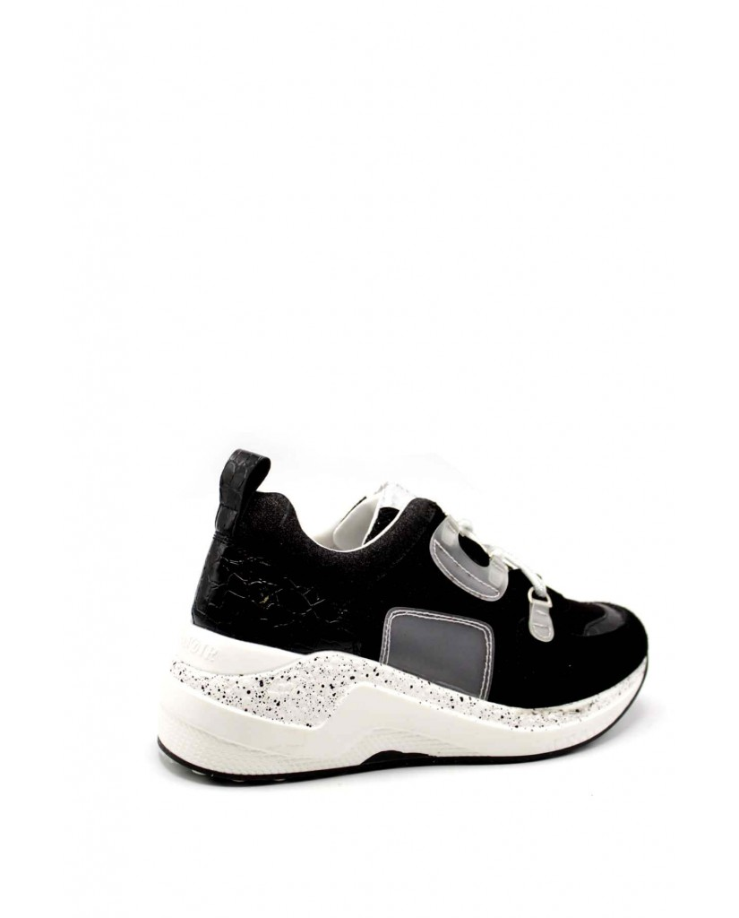 Cafe' noir Sneakers F.gomma Sneaker anelli Donna Nero Fashion