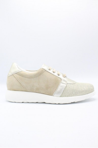Key's Sneakers F.gomma 35/41 Donna Platino Fashion