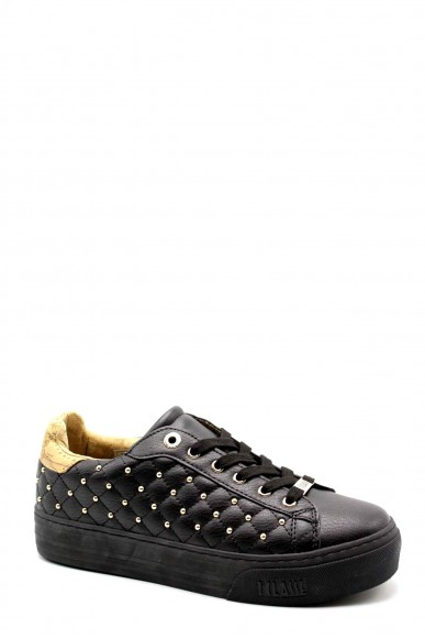 1^classe  Sneakers F.gomma Sneakers n0368 Donna Nero Fashion