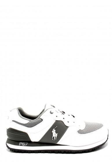 Ralph lauren Sneakers F.gomma 40/45 slaton pony Uomo Bianco-grigio Fashion