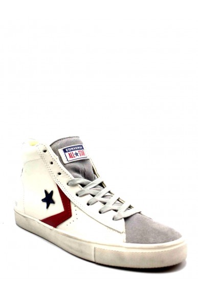 Converse Sneakers F.gomma Pro leather vulc distressed mid gra Uomo Grigio Casual
