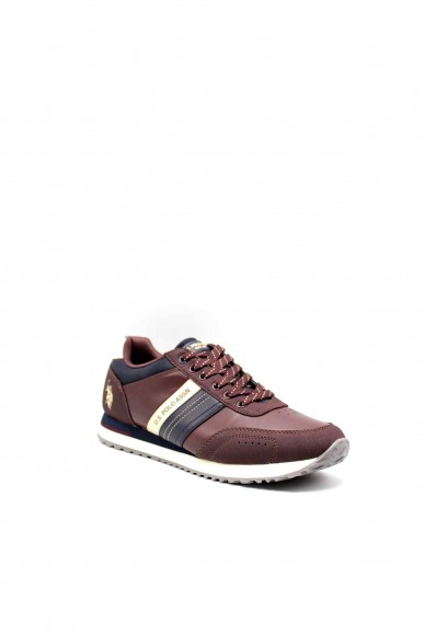 Us polo Sneakers F.gomma Jason1 Uomo Bordo Fashion