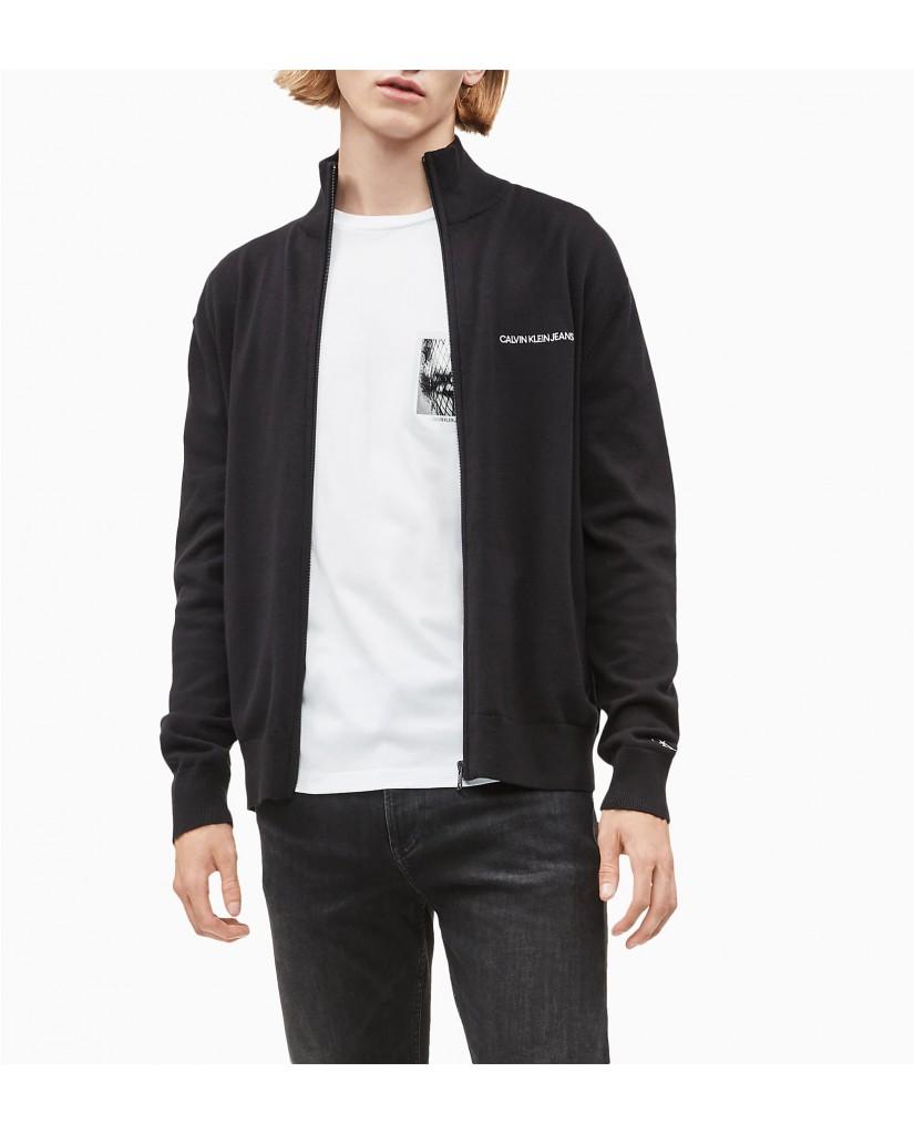 Calvin klein jeans Felpe   Zip through essentia Uomo Nero Fashion