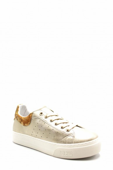 1^classe  Sneakers F.gomma N0201 Donna Platino Fashion