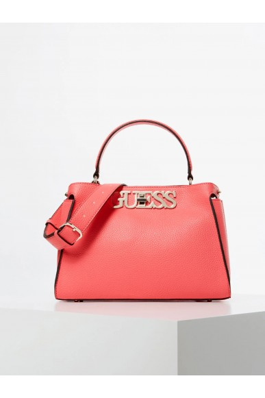 Guess Borse   Uptown chic turnlock satchel Donna Rosso Fashion