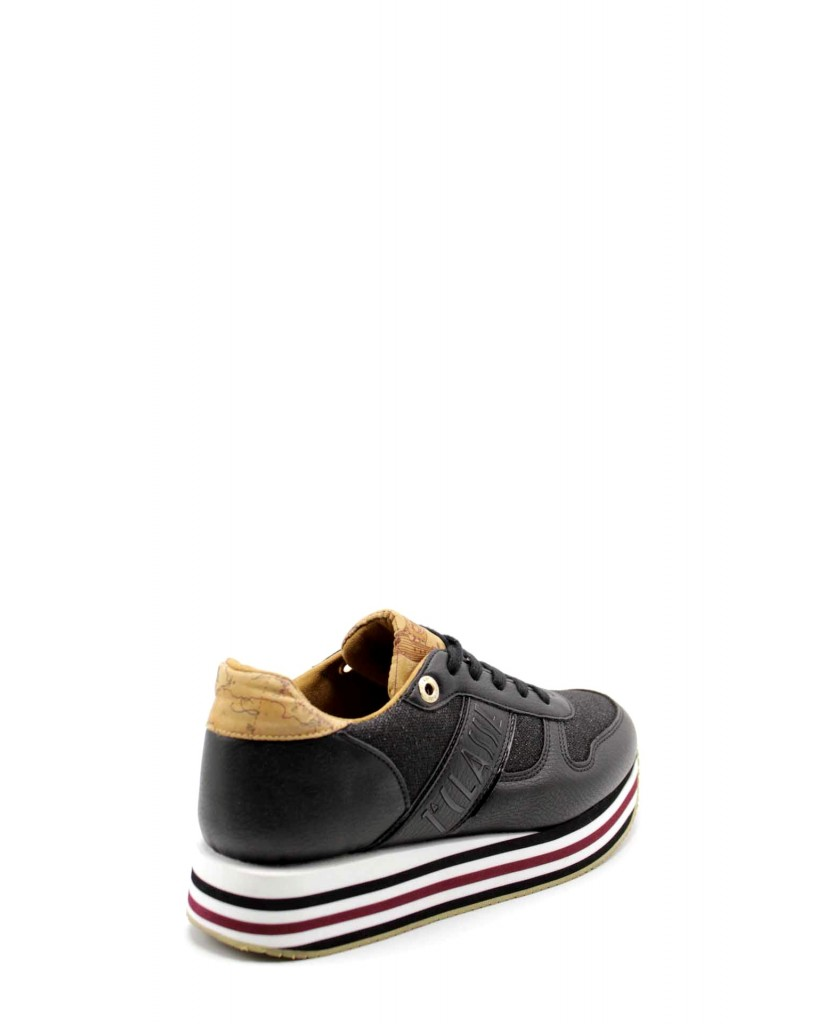 1^classe  Sneakers F.gomma Sneakers n0385 Donna Nero Fashion