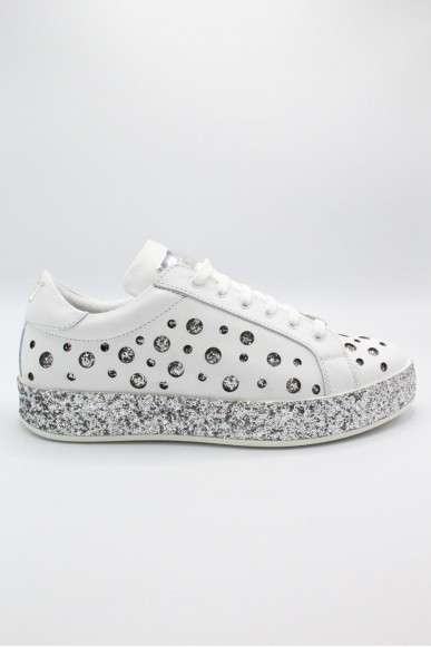 J-quinn Sneakers F.gomma 36-41 glitter Donna Bianco-argento Casual