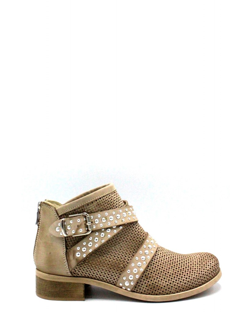 Euroshoes Stivaletti F.gomma 35-41 1663 made in italy Donna Taupe Casual