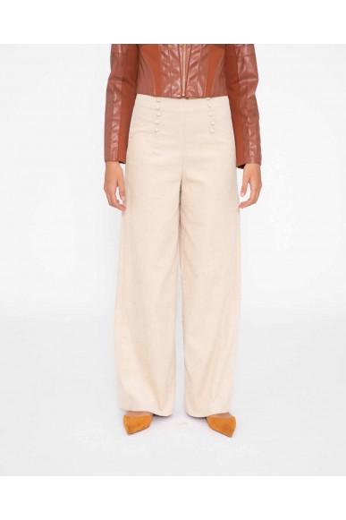 Silvian each Pantaloni   Crop pants novajoa Donna Beige