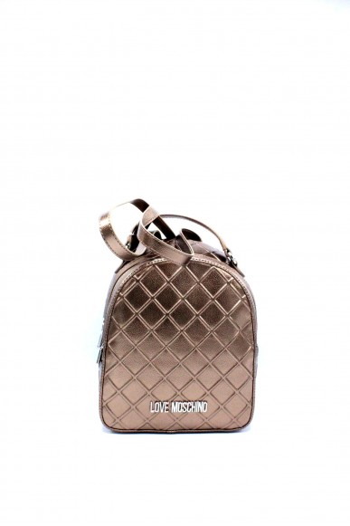 Moschino Backpacks - Jc4271pp05 zainetto trapuntato metallizzato Donna Bronzo Fashion