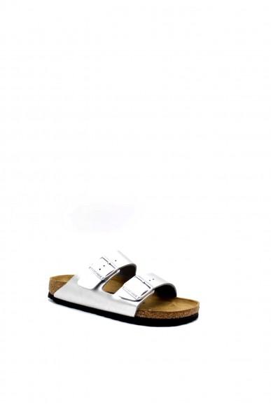 Birkenstock Sandali F.gomma Arizona bi-classic Donna Argento Fashion