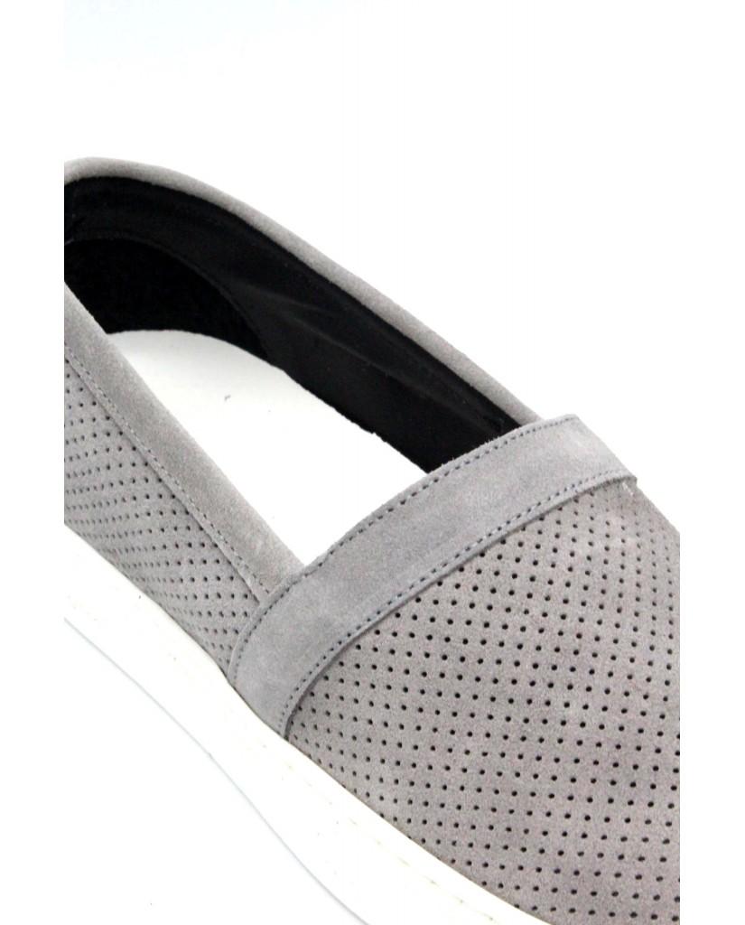 Bottega marchigiana Slip-on F.gomma 40/45 sbm14 made in italy Uomo Grigio Fashion