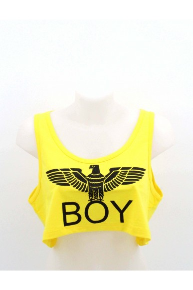 Boy london Top Donna Giallo Casual