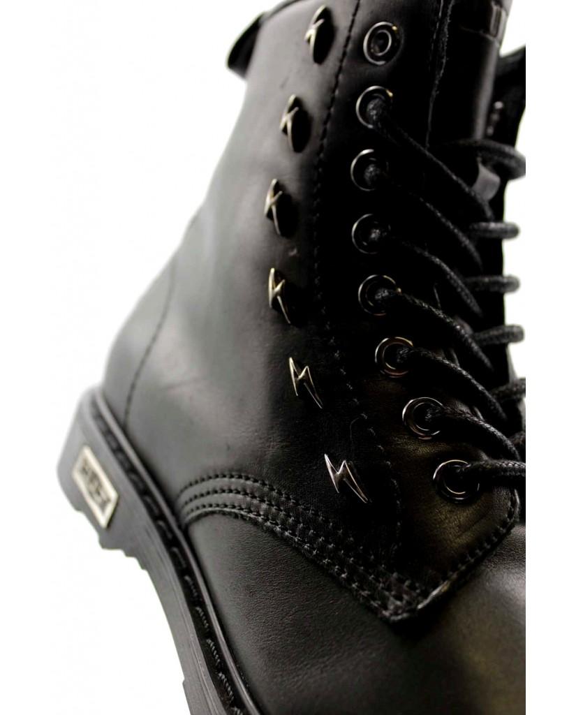Cult Stivaletti   Sabbath 3018 mid w leather black Donna Nero Fashion