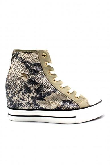 Cafe' noir Sneakers F.gomma 35/41zeppa interna Donna Beige Fashion