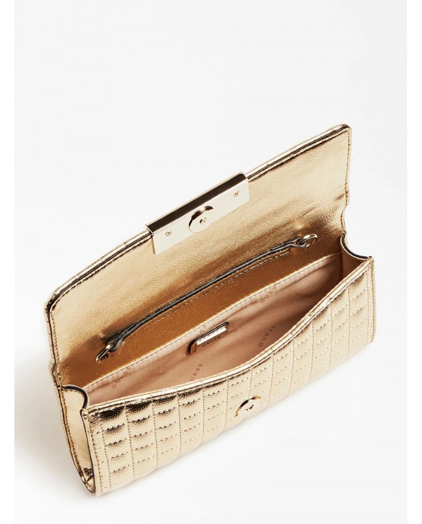 Guess Tracolle   Dinner date clutch Donna Oro Fashion
