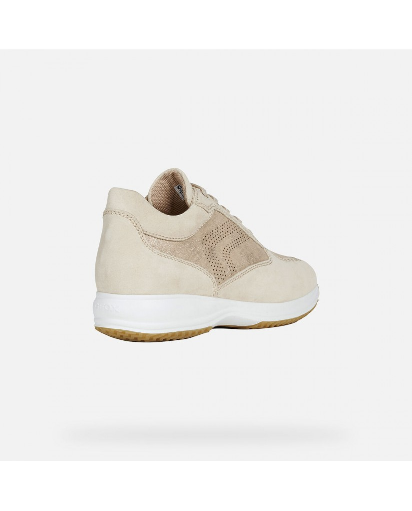 Geox Sneakers   D happy b - shiny sue+suede Donna Sand
