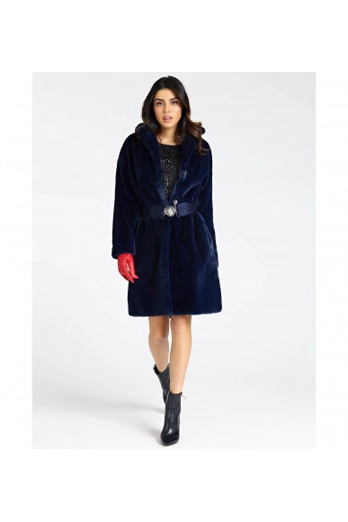 Guess Cappotti   Shelly coat Donna Blu Fashion
