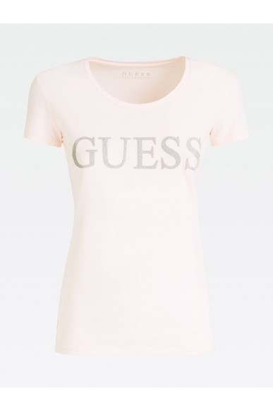 Guess T-shirt   Ss rn crystal tee Donna Rosa Fashion