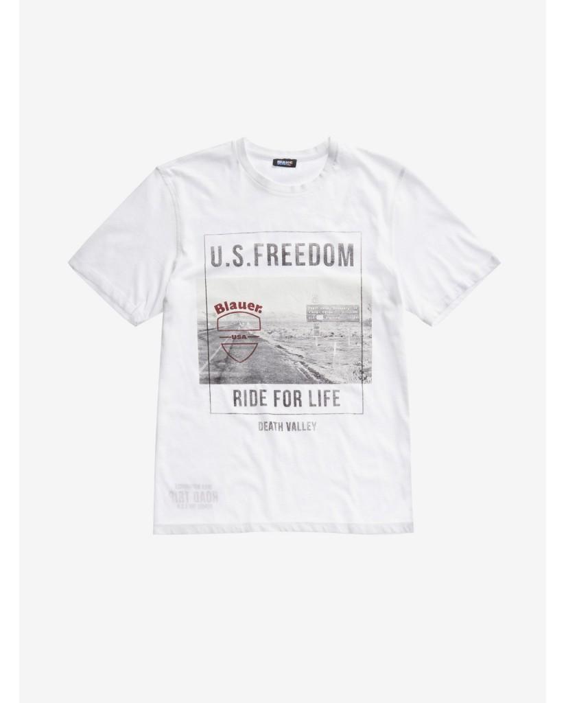 Blauer T-shirt   T-shirt manica corta Uomo Bianco Fashion