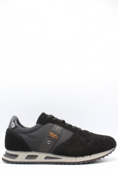 Blauer Sneakers F.gomma 40-45 Uomo Nero Casual