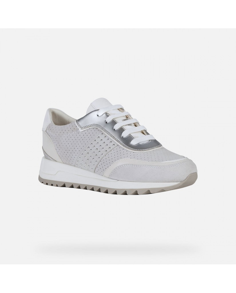 Geox Sneakers   D tabelya a - suede+synt.lea Donna Off white/white