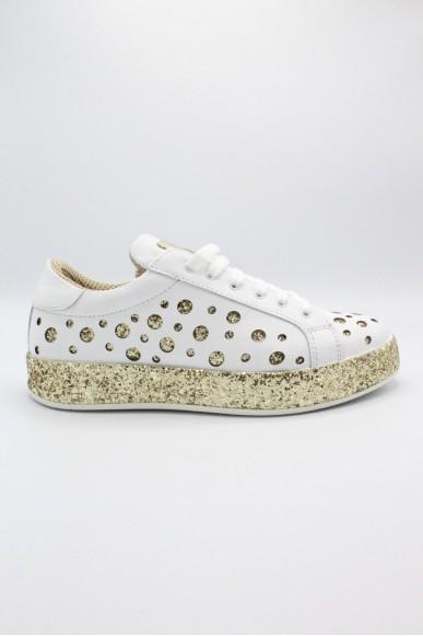 J-quinn Sneakers F.gomma 36-41 glitter Donna Platino Casual