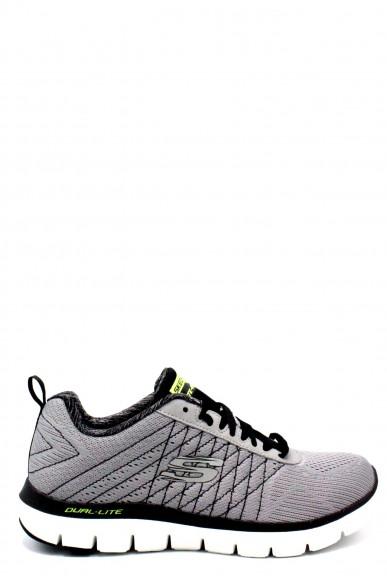 Skechers Sneakers F.gomma 40/45 Uomo Grigio Sportivo