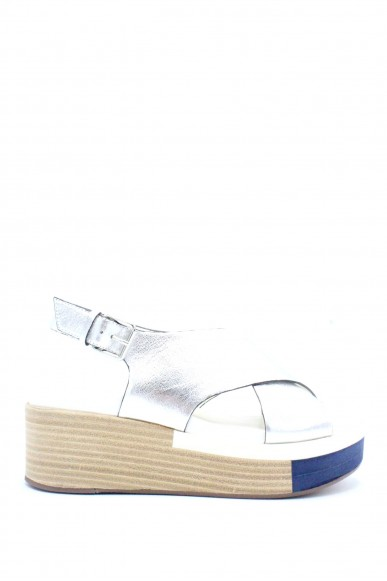Elvio zanon Sandali F.gomma 36/41 f2602n Donna Argento-bianco Fashion