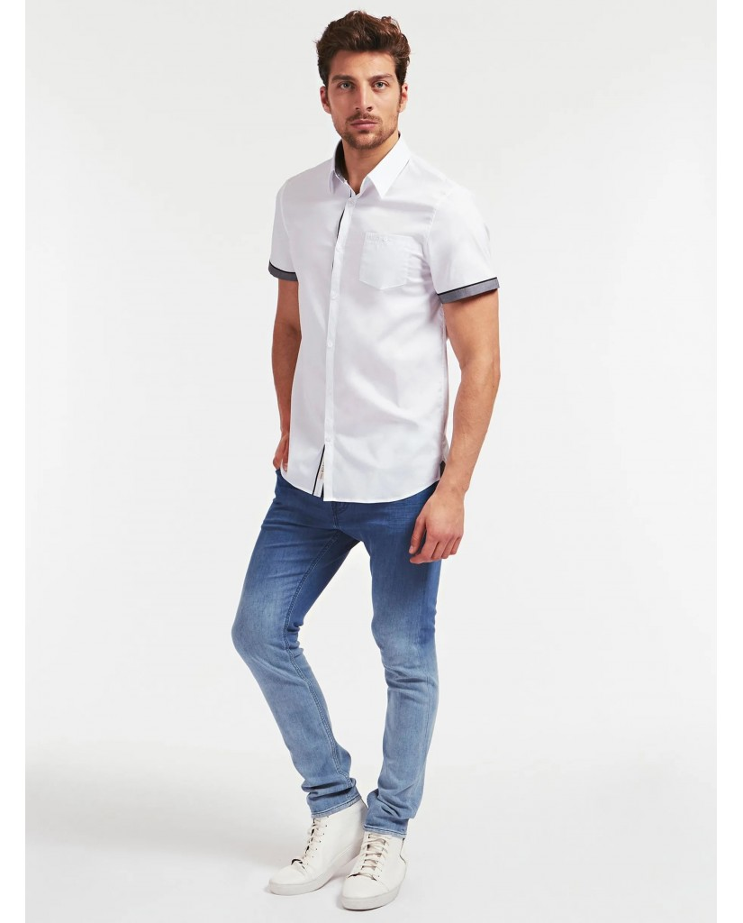 Guess Camicie   Ss sunset shirt Uomo Bianco Fashion