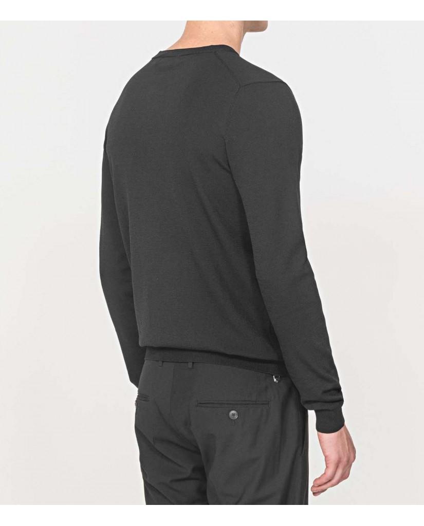 Antony morato Maglioni   Maglia girocollo con placchett Uomo Nero Fashion
