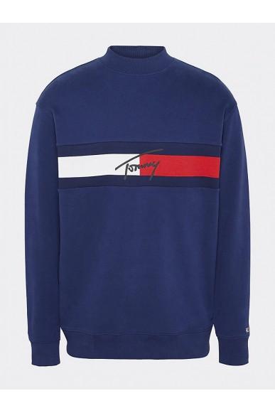 Tommy hilfiger Felpe   Tjm jacquard flag pa Uomo Blu Fashion