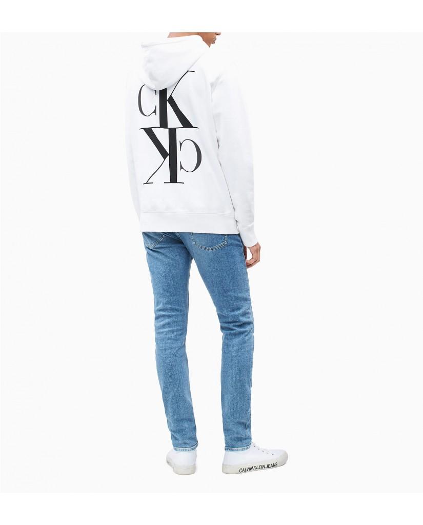Calvin klein jeans Felpe   Back mirrored monogr Uomo Bianco Fashion