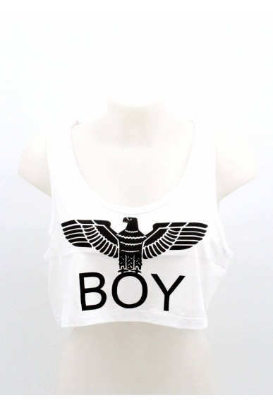 Boy london Top Donna Bianco Casual