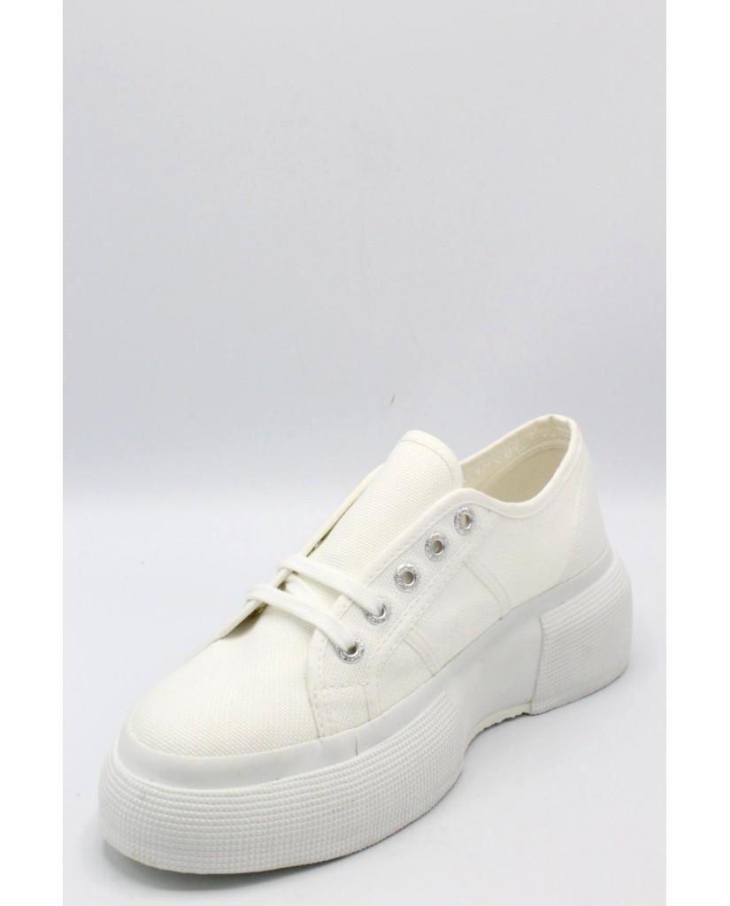 Superga Sneakers F.gomma 35/41 2287 cotmetw Donna Bianco Sportivo