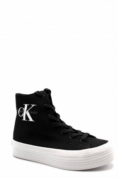 Calvin klein Sneakers F.gomma Zabrina canvas Donna Nero Fashion