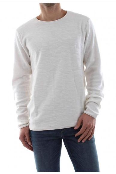 Jackejones Maglie Jjeslub knit Uomo Bianco Casual
