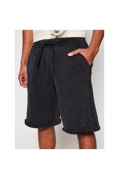 Guess Bermuda   Patch logo shorts Uomo Nero Fashion