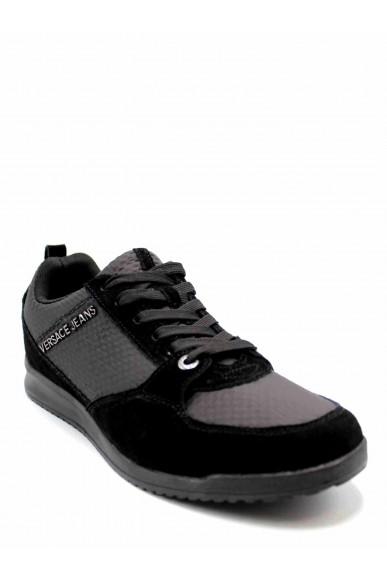 Versace jeans Sneakers F.gomma Linea fondo gas dis. 1 Uomo Nero Fashion