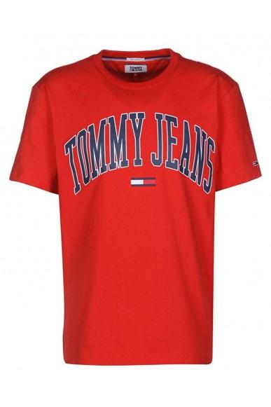 Tommy hilfiger T-shirt   Tjm collegiate logo Uomo Rosso Casual