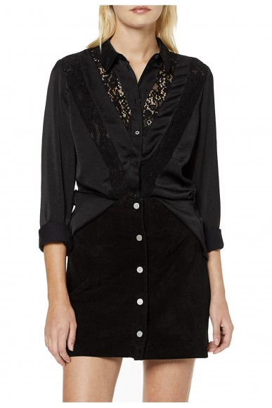 Guess Camicie   Ls nira shirt Donna Nero Fashion