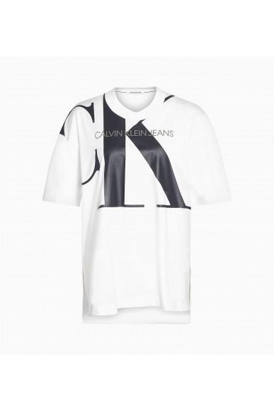 Calvin klein jeans T-shirt   Large ck tunic tee Donna Bianco Fashion