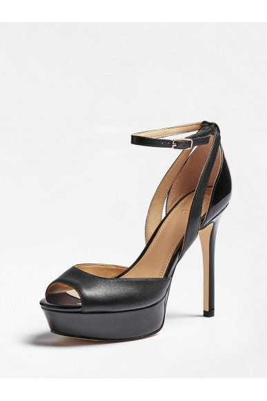 Guess Sandali   Laurele sandalo (sandal) leath Donna Nero Fashion