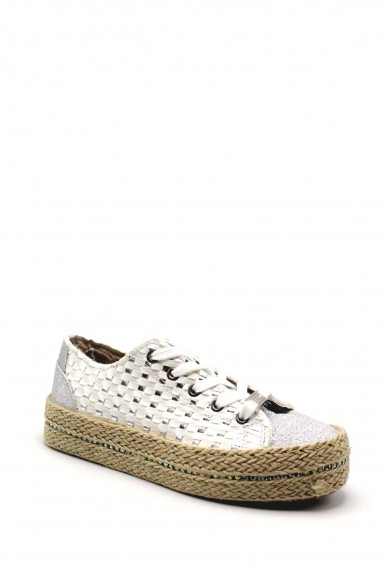 Cafe' noir Sneakers F.gomma Sneakers in similpelle intrecciata Donna Bianco Fashion